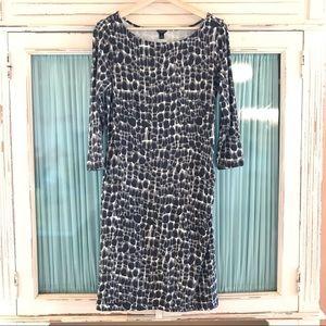 Anne Taylor | 3/4 Sleeve Animal Print Dress